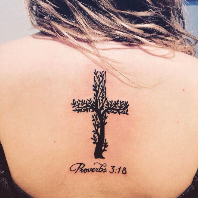 crosses with flowers tattoos