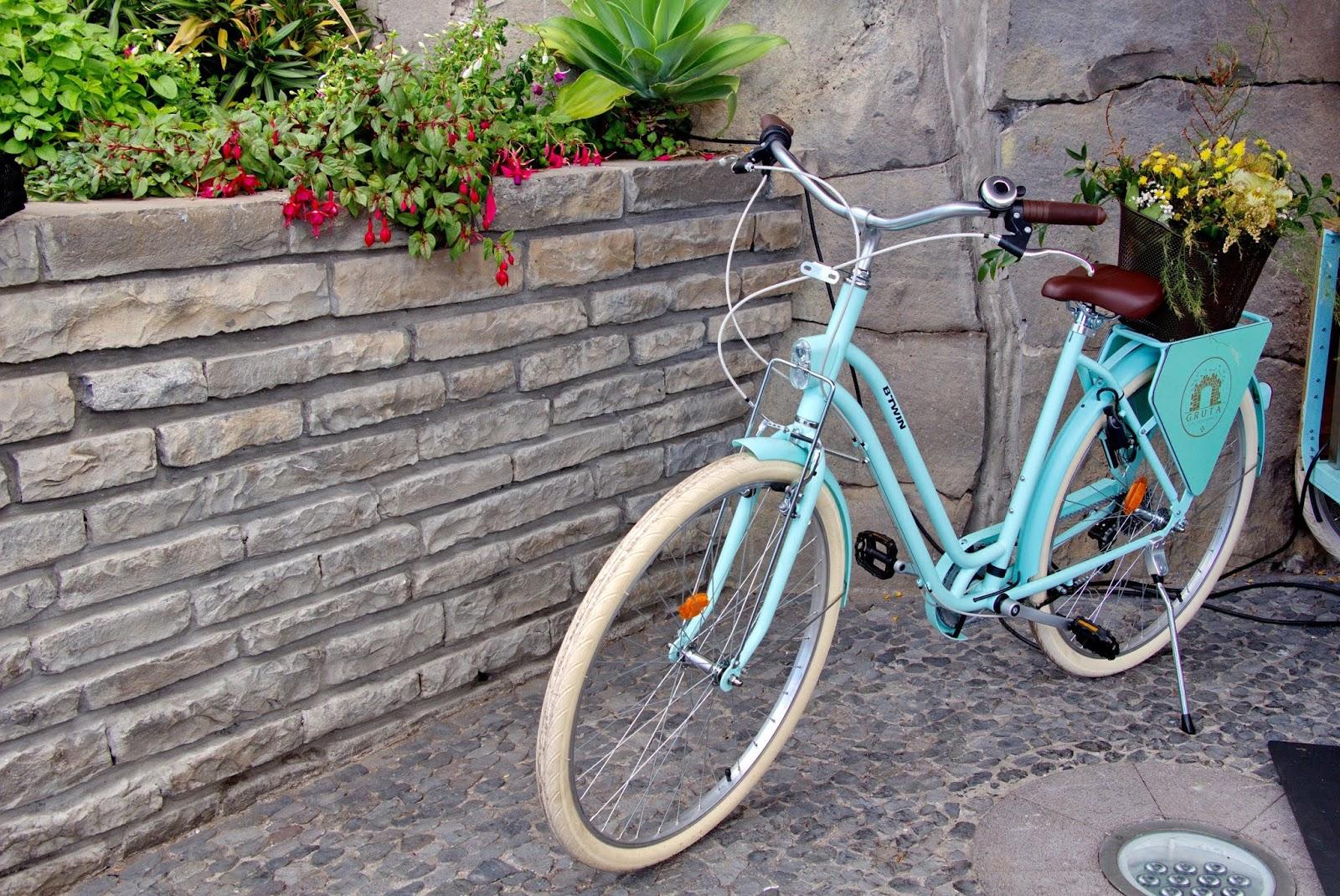uma bicicleta florida
