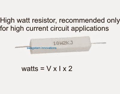 high watt resistor wire wound