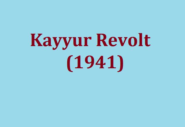 Kayyur Revolt (1941)