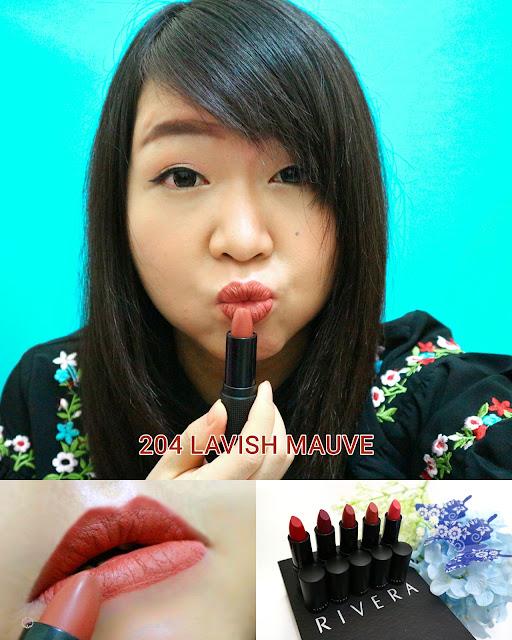 Rivera Absolute Matte Lipstick 204 LAVISH MAUVE
