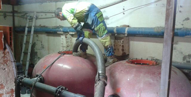 limpieza en depósitos de agua potable en madrid