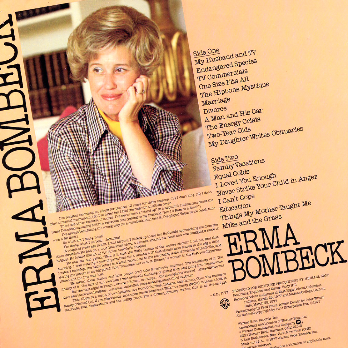 Vintage Stand-up Comedy: Erma Bombeck