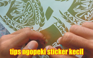 tips ngopeki sticker kecil