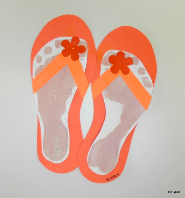 91774c511c261 Tippytoe Crafts  Footprint Flip-Flops