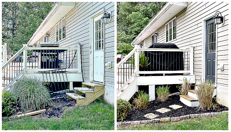 Budget-friendly outdoor makeover before and after