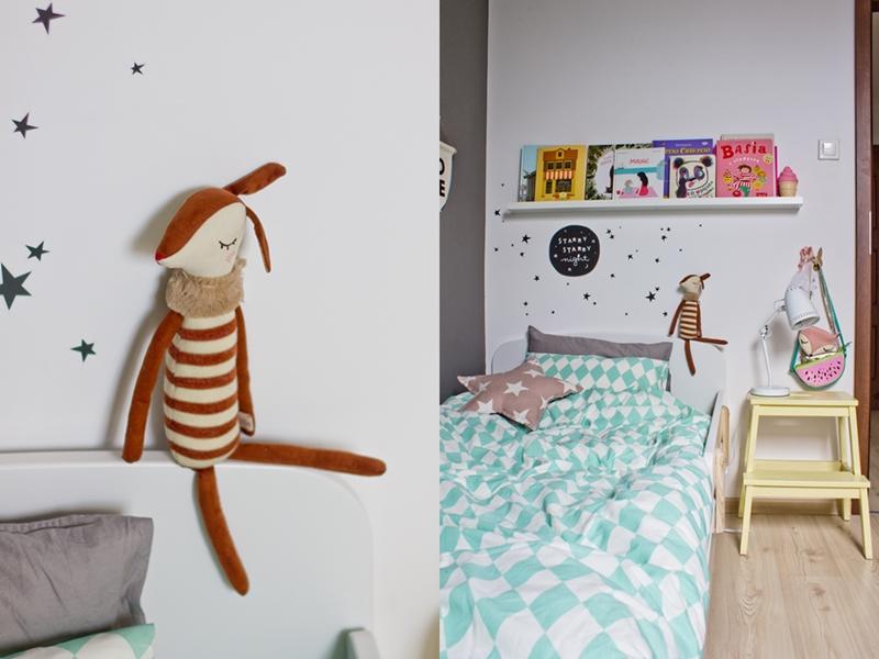 pokój dla dziewczynki, maileg, naklejki ścienne, łózko Flexa, flexa play