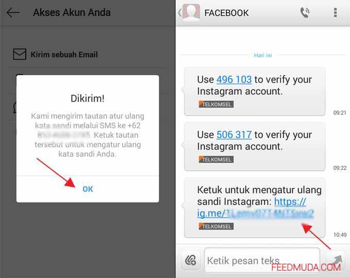 Cara Membuka Instagram Yang Lupa Password dan Email