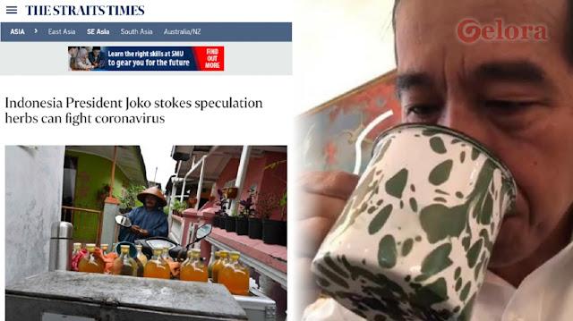 Media Asing Kritik Pernyataan Jokowi: Jamu Belum Terbukti Tangkal Corona