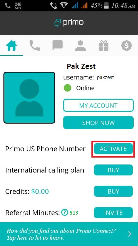 Usa Number Free App