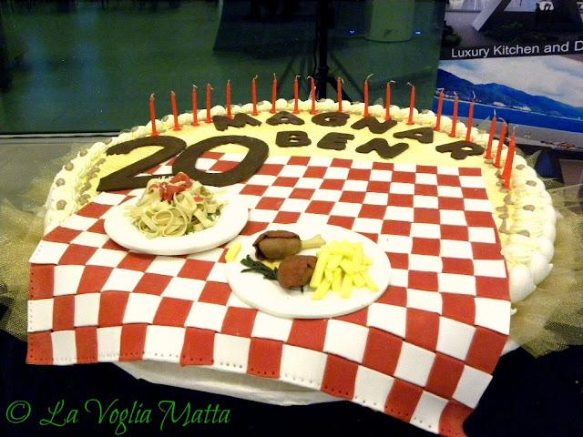 "torta  per 20° anniversario della guida "" Magnar Ben """