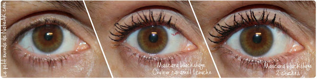 mascara Blackstage Couleur caramel : photo  test avant/après