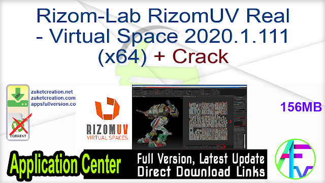 Rizom-Lab RizomUV Real – Virtual Space 2020.1.111 (x64) + Crack