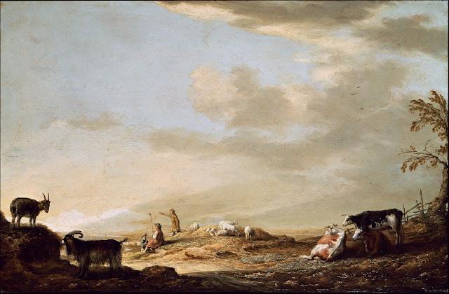 Альберт Кёйп - Пейзаж с пастухами и стадом. ок1640