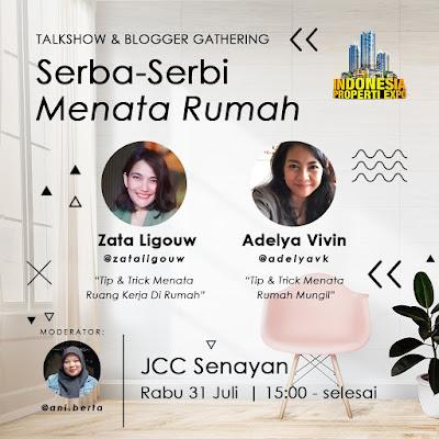 talkshow dan blogger gathering tentang serba-serbi menata rumah