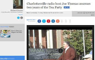 Radio host Joe Thomas Charlottesville Tea Party