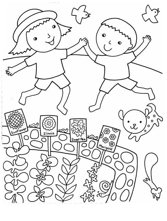Desenhos De Horta Plantacao Para Colorir Pintar Imprimir Ou