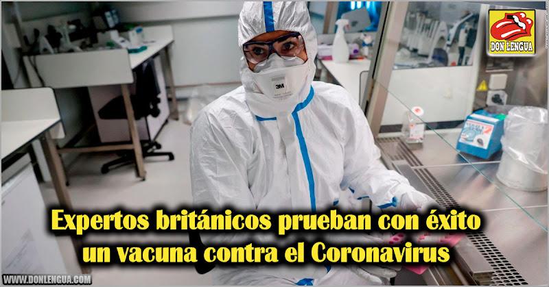 Expertos británicos prueban con éxito vacuna contra el Coronavirus