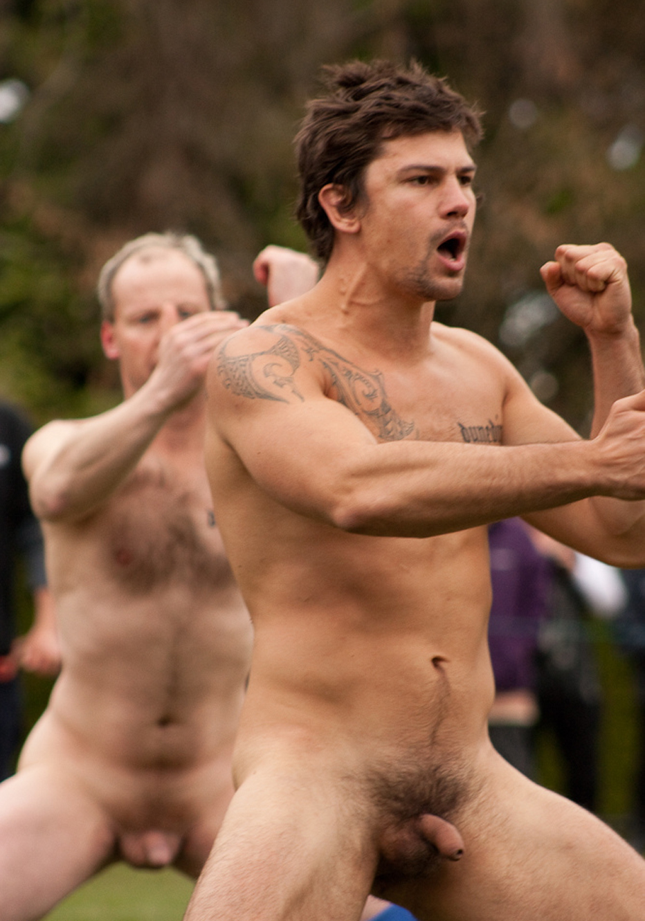 Naked male rugby