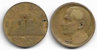 1000 Réis, 1937