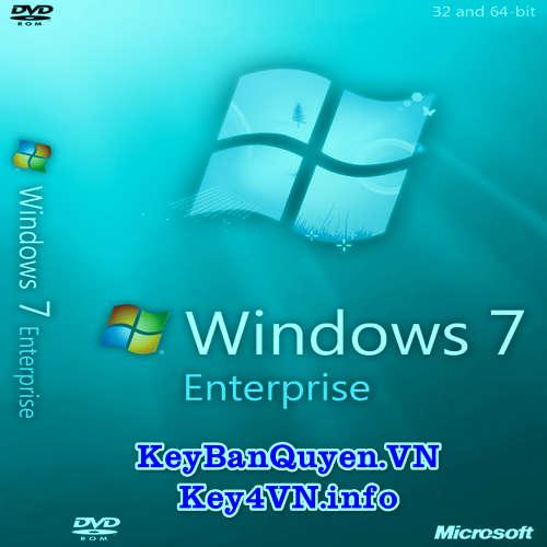 Mua bán key bản quyền Windows 7 Entrerprise 32 và 64 bit.