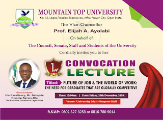 MTU 1st Convocation Ceremony Programme of Events [Maiden Edition]