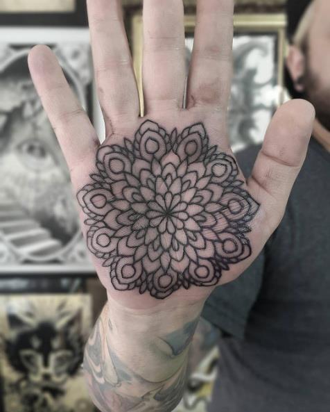 Tatuagens na palma da mão