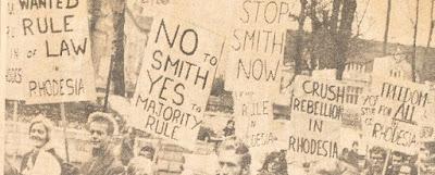 Protest against Rhodesian UDI
