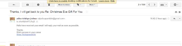my gmail auto responder sreenshot