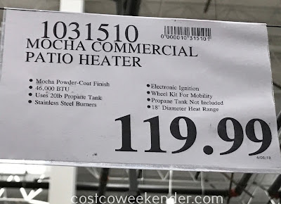 Deal for the Fire Sense Commercial Patio Heater at Costco