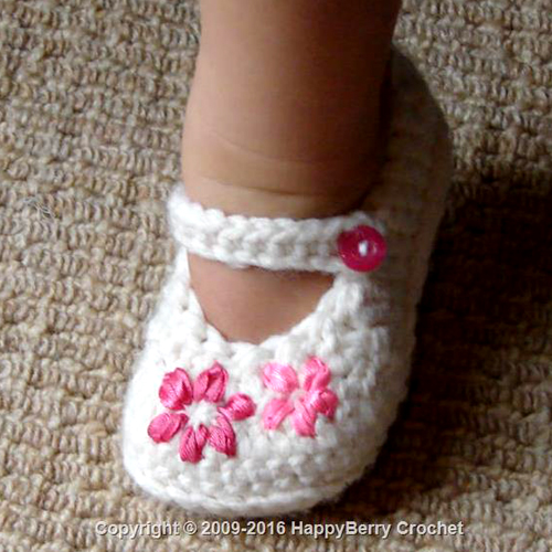 Lazy Daisy Girl's Shoes - Free Pattern