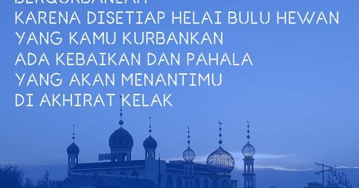 99 Kata Ucapan Selamat Idul Adha 10 Dzulhijjah Kosngosan