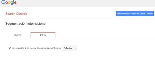La orientación geográfica del sitio para el posicionamiento en Google