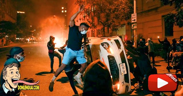 Los Antifa atacaron a los seguidores de Donald Trump tras discurso de PAZ de Biden