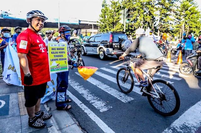 Yana Kampanyekan Keselamatan Bersepeda dan Patuhi Rambu Lalin