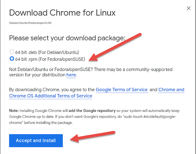 Google Chrome terms and conditions