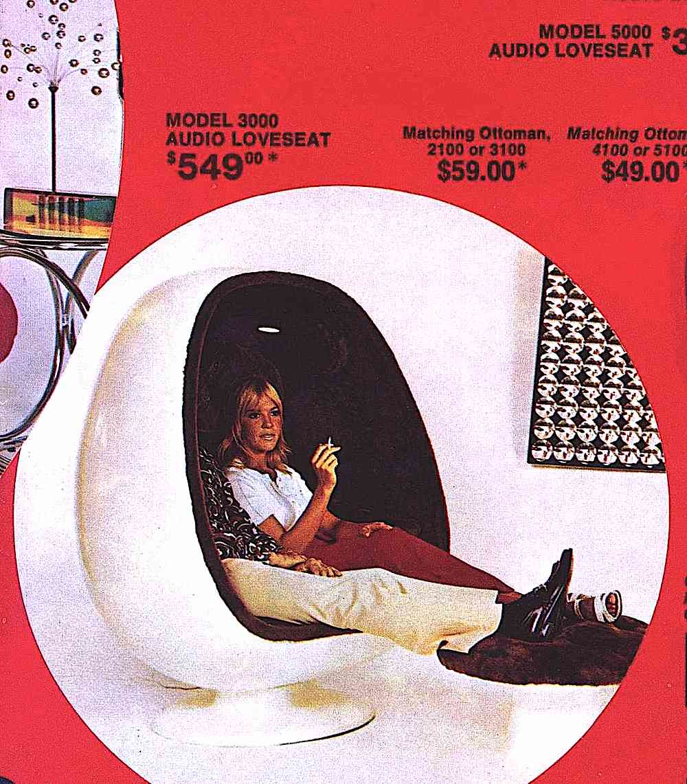 1972 egg loveseat