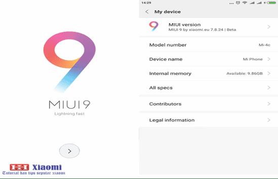 Cara menganti rom china Xiaomi Mi 4C ke Rom Global Xiaomi.EU MIUI 9