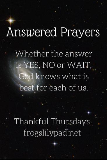 Answered Prayers {Thankful Thursdays Linkup} lfrogslilypad.net