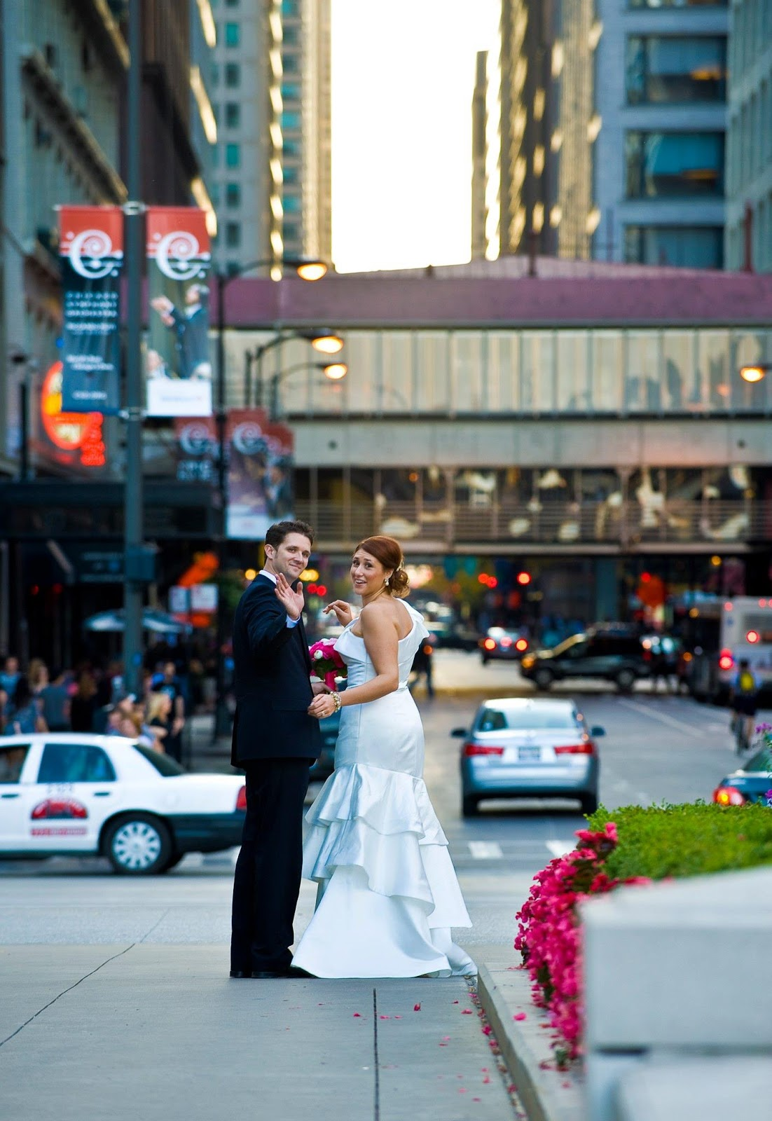 Chicago, wedding, hot pink,
