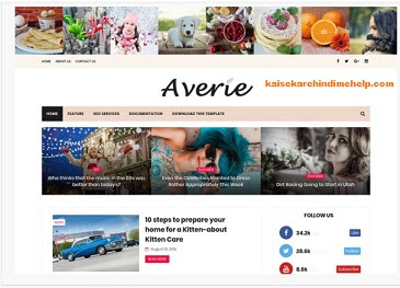 Averie Blogger Theme