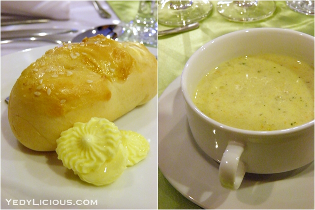 Bread and Soup at Don Vito of Boracay Mandarin island Hotel