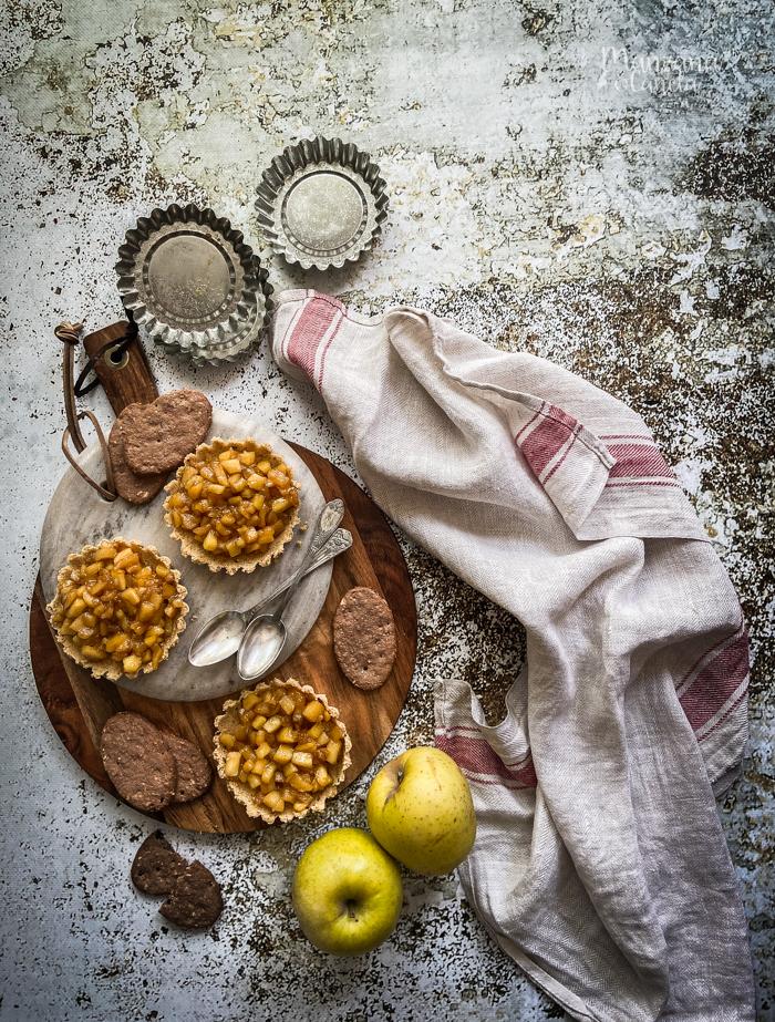 Tartaletas de manzana caramelizada