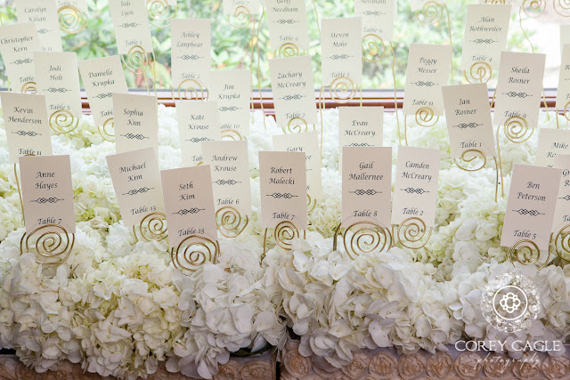 place cards and hydrangea | Corey Cagle Photography