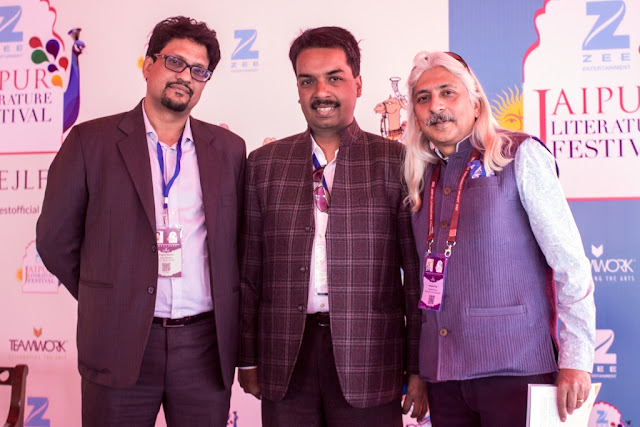 L-R Mr. Yograj Varma, Head Corporate Communications, Apollo Tyres Ltd,Dr. Nilanjan Sarkar, Deputy Director, South Asia Centre, LSE and Mr. Sanjoy K Roy,MD ,Teamwork Arts Pvt. Ltd