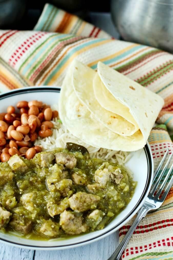 Slow Cooker Chile Verde With Pork Karen S Kitchen Stories