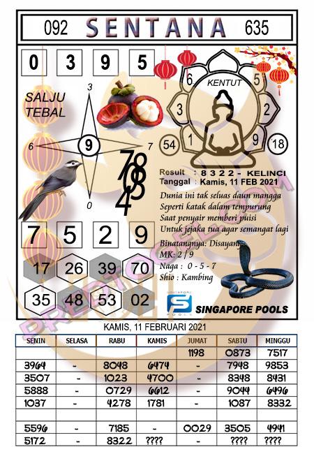 Syair Sgp45 Sentana Kamis 11-Feb-2021