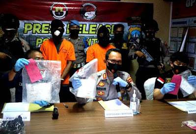 Sabu 2 Kg dan 49 Ecstasy asal Malaysia, Diamankan Polres Bintan