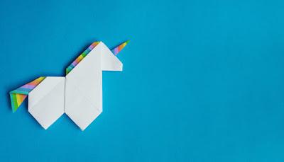 Origami unicorn (credit to https://www.atlanticbt.com/insights/myth-full-stack-unicorn-developer/)