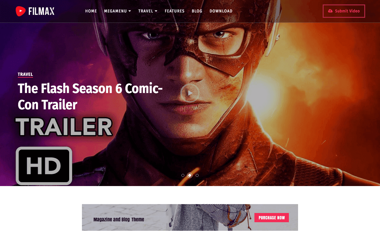 Filmax Movie Blogger Template Free Download